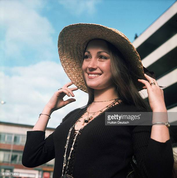 English actress Jane Seymour Leaving Heathrow Airport London 1972 Ms Seymour is flying to Jamaica to resume filming on the James Bond film 'Live and...