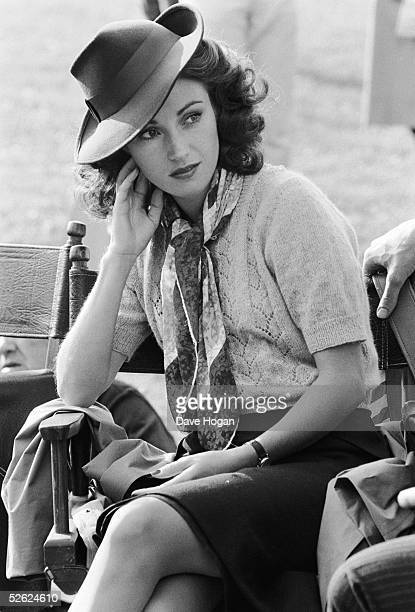 English actress Jane Seymour on the set of 'Lassiter' directed by Roger Young June 1983