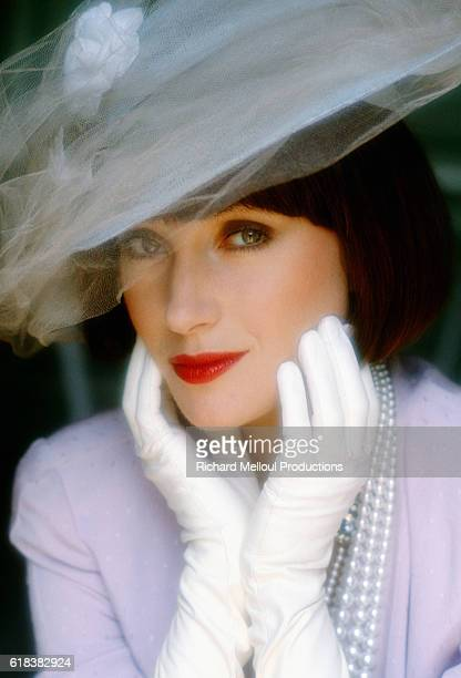 English actress Jane Seymour wears her costume for her role in the 1984 television movie The Sun Also Rises. Director James Goldstone adapted the movie from the classic 1926 novel by Ernest Hemingway.
