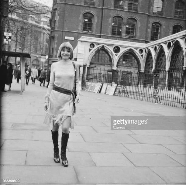 English actress Janet Munro outside the Royal Courts of Justice after being granted a decree nisi aganst husband Ian Hendry London UK 11th December...