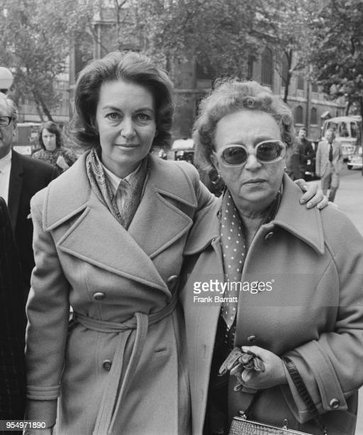 English actress Janette Scott arrives at the High Court in London for her hearing during a custody battle with her former husband Mel Tormé 21st...