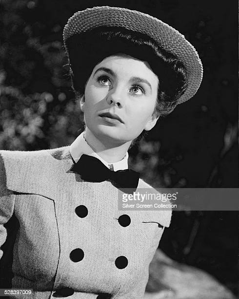 English actress Jean Simmons in Edwardian period costume circa 1955