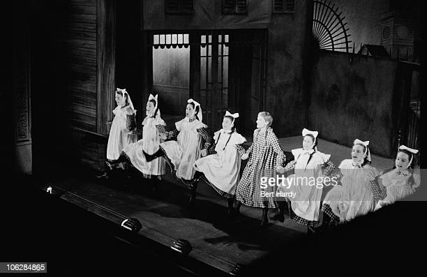 English actress Jeannie Carson appears in a production of 'Love From Judy' at the Royal Lyceum Theatre in Edinburgh circa 1955 Original Publication...