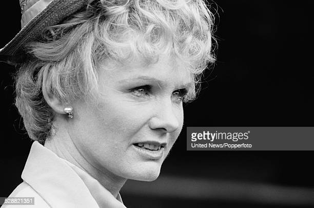 English actress Jennie Linden pictured dressed in character as Patsy CornwallisWest on location during filming of the television drama series Lillie...