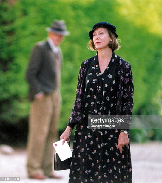 English actress Jenny Agutter on location in Dorchester-on-Thames, Oxfordshire, for the filming of an episode of the television series 'Agatha...
