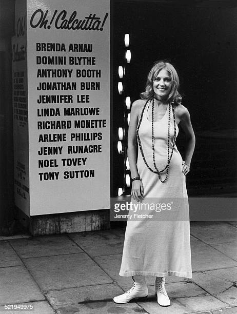 English actress Jenny Runacre London 1970 She is starring in the London musical 'Oh Calcutta'