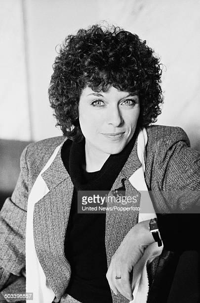 English actress Jill Gascione posed in London in January 1984