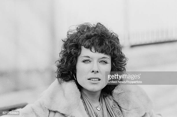 English actress Jill Gascoine who plays Detective Inspector Maggie Forbes in the television drama series The Gentle Touch posed on the South Bank in...