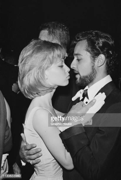 English actress Jill Haworth and American actor Sal Mineo at the 35th Academy Awards held at Santa Monica Civic Auditorium Los Angeles California US...