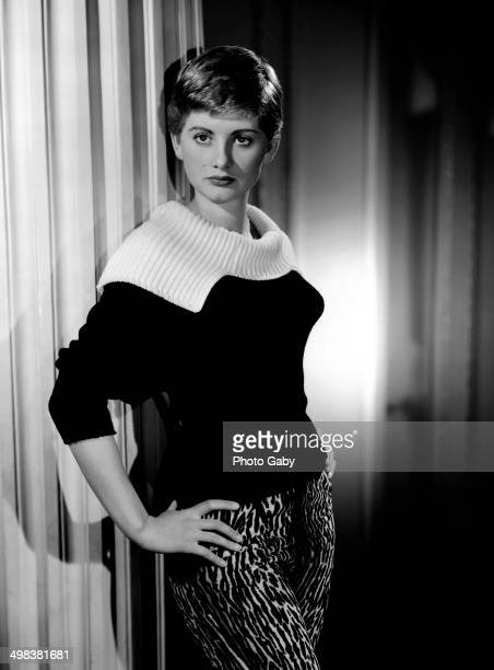 English actress Jill Ireland , London, 1955.