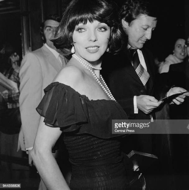 English actress Joan Collins arrives at the Dominion Theatre in Tottenham Court Road London for the European premiere of the film 'That's...