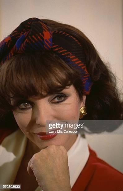 English actress Joan Collins circa 1985