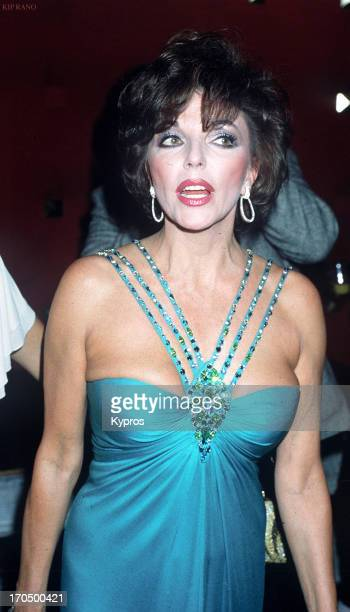English actress Joan Collins circa 1990