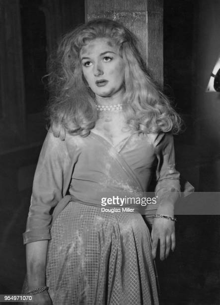 English actress Joan Sims during the filming of 'The Belles of St Trinian's' at Shepperton Studios UK 3rd February 1954 She plays schoolmistress Miss...