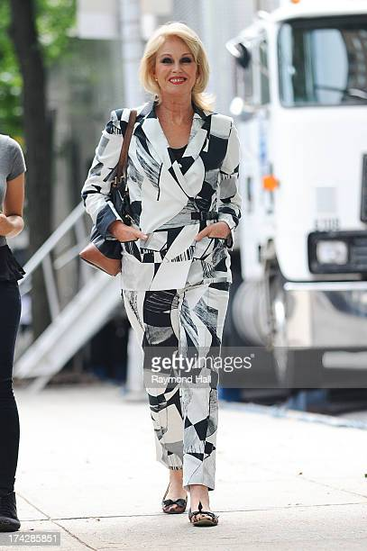 """English Actress Joanna Lumley is seen on the set of """"Squirrels to the Nuts"""" on July 23, 2013 in New York City."""