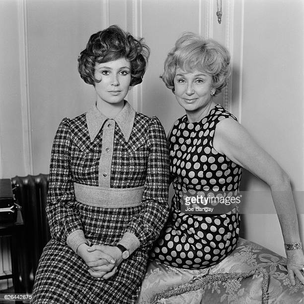 English actress Joanna McCallum and her mother Googie Withers 4th March 1971