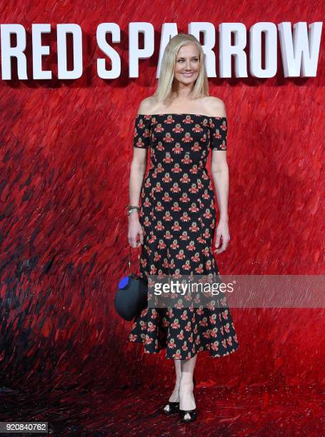 English actress Joley Richardson poses on the red carpet on arrival to attend the European premiere of the film Red Sparrow in London on February 19...