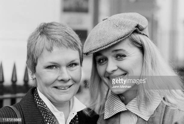 English actress Judi Dench and irish actress Sinéad Cusack UK 28th November 1983