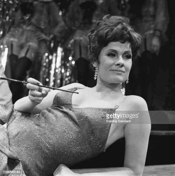 English actress Judi Dench as Sally Bowles in a photocall for Harold Prince's production of 'Cabaret' at the Palace Theatre, London, 27th February...