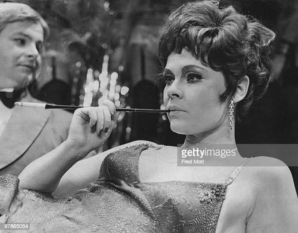 English actress Judi Dench as Sally Bowles in a photocall for Harold Prince's production of 'Cabaret' at the Palace Theatre London 27th February 1968