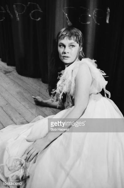 English actress Judi Dench at a dress rehearsal of 'Hamlet' at the Old Vic theatre London 11th September 1957 Dench is making her London debut as...
