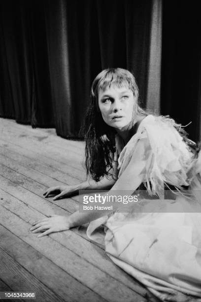 English actress Judi Dench at a dress rehearsal of 'Hamlet' at the Old Vic theatre, London, 11th September 1957. Dench is making her London debut as...