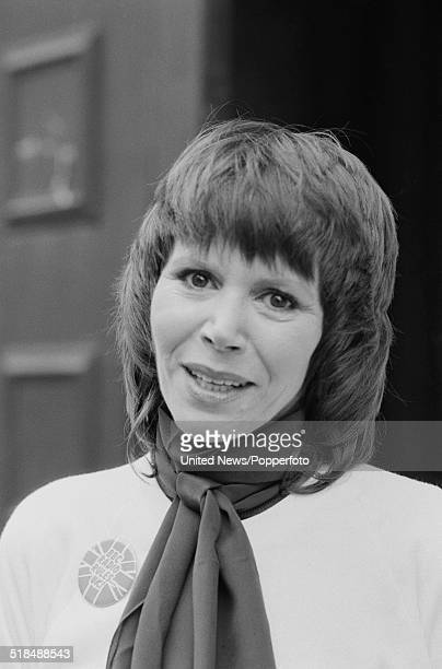 English actress Judy Carne pictured in London on 6th January 1981