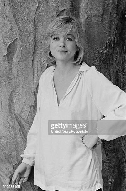 English actress Judy Geeson pictured on the set of the film Inseminoid on 6th June 1980