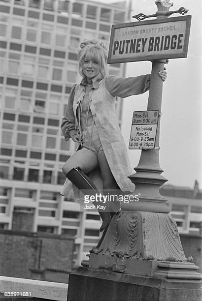English actress Julia Foster filming 'All Coppers are ...' on Putney Bridge, London, 11th May 1971.