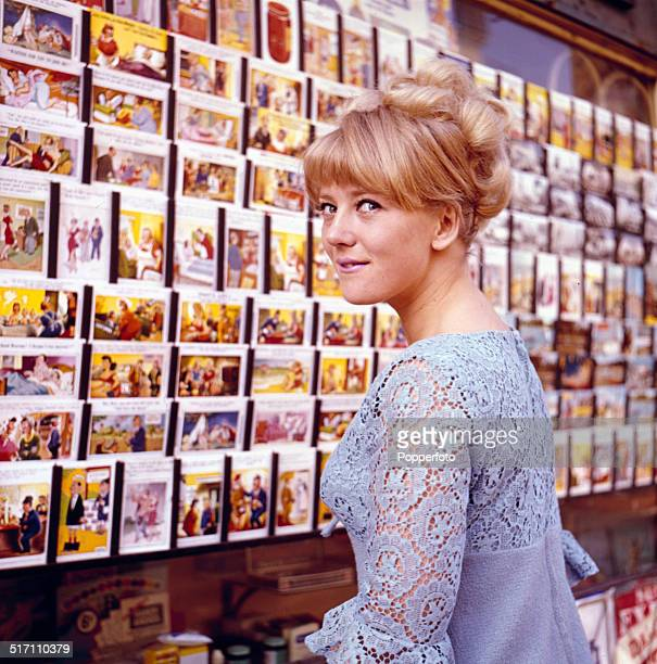 English actress Julia Foster posed on the set of Allan Prior's television drama 'They Throw It at You' in 1964