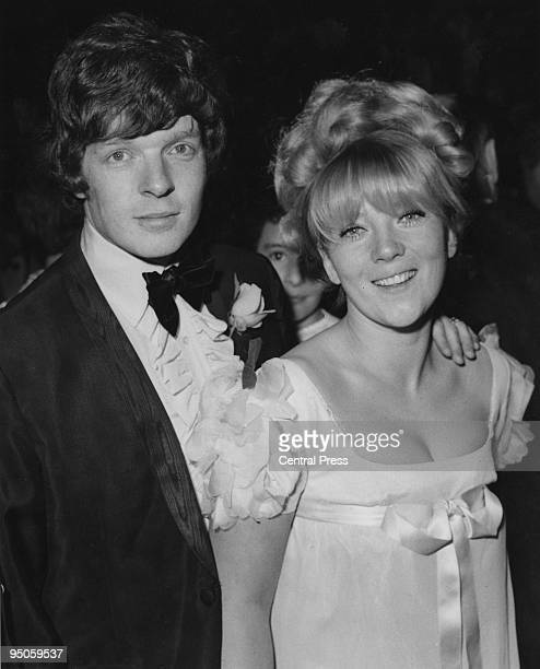 English actress Julia Foster with her husband singer Lionel Morton at the premiere of the Beatles' film 'Yellow Submarine' directed by George Dunning...