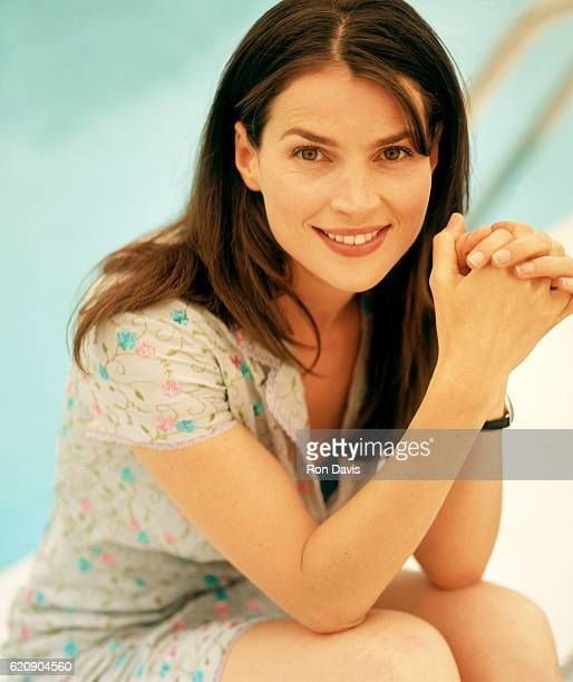 English actress Julia Ormond poses for a portrait during the 1999 Cannes Film Festival in May 1999 in Cannes France