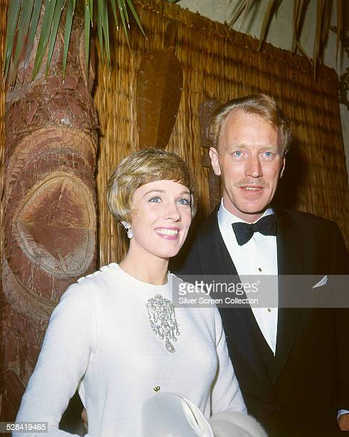 English actress Julie Andrews and Swedish actor Max von Sydow at a party in Los Angeles California circa 1966