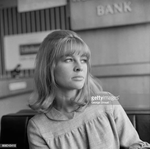 English actress Julie Christie at Heathrow airport 14th September 1964