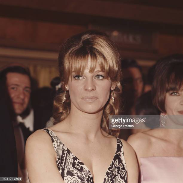 English actress Julie Christie attends a Royal Film Performance of 'Born Free' at the Odeon Leicester Square in London 14th March 1966