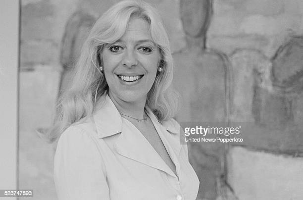 English actress Julie Goodyear who plays the character of Bet Lynch in the long running television soap opera Coronation Street posed on 12th October...