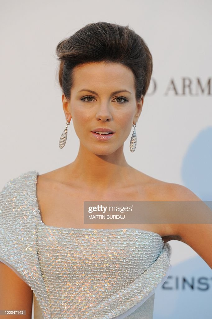 English actress Kate Beckinsale poses wh
