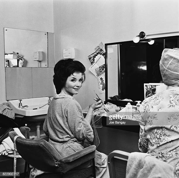 English actress Kate O'Mara in her dressing room at the Mayfair Theatre where she is appearing as 'Fleda Vetch' in 'The Spoils of Poynton' London 2nd...