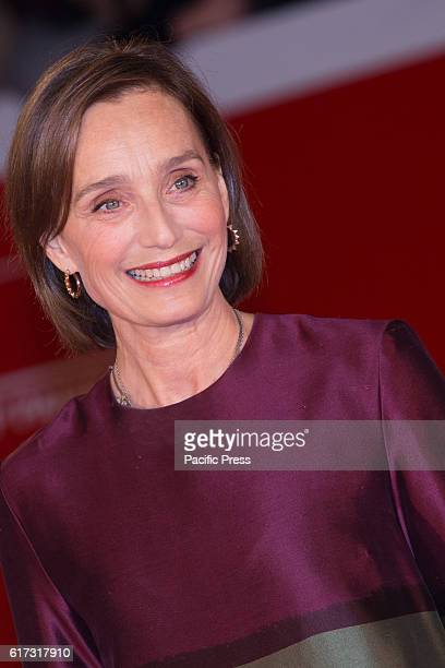 English actress Kristin Ann Scott Thomas on the red carpet for the the 20th anniversary of The English Patient