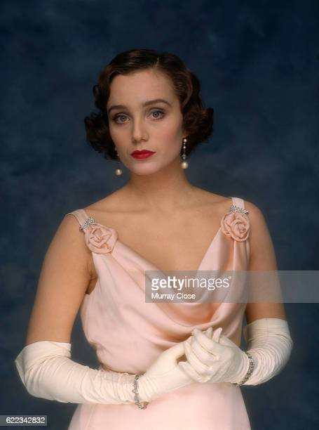 English Actress Kristin Scott Thomas During the Filming of A Handbul of Dust