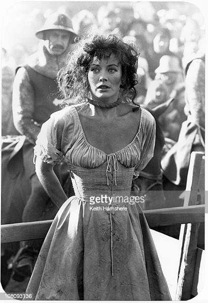English actress Lesley-Anne Down as Esmeralda in the film 'The Hunchback of Notre Dame', aka 'Hunchback', 1982.