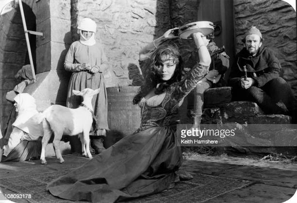English actress Lesley-Anne Down as the gypsy Esmeralda in the film 'The Hunchback of Notre Dame', aka 'Hunchback', 1982.