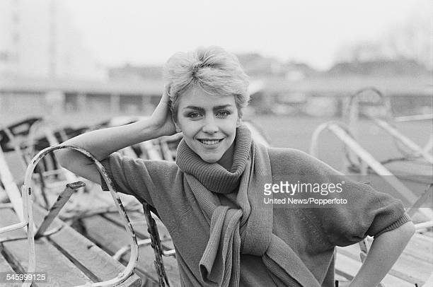 English actress Leslie Ash who appears in the television film 'Outside Edge' pictured at Lord's Cricket Ground in London on 9th December 1982
