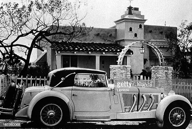 English actress Lilian Harvey's Mercedes parked in front of her property in the 1930's