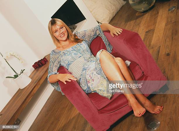 English actress Lisa Geoghan circa 1995