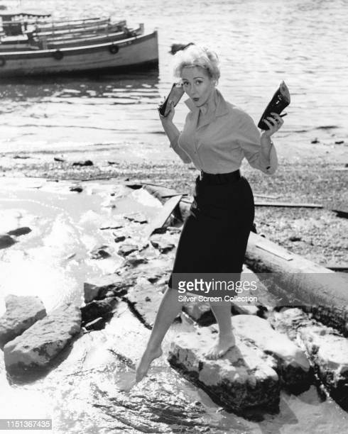 English actress Liz Fraser as Ethel on the set of the British comedy film 'Two Way Stretch' 1960