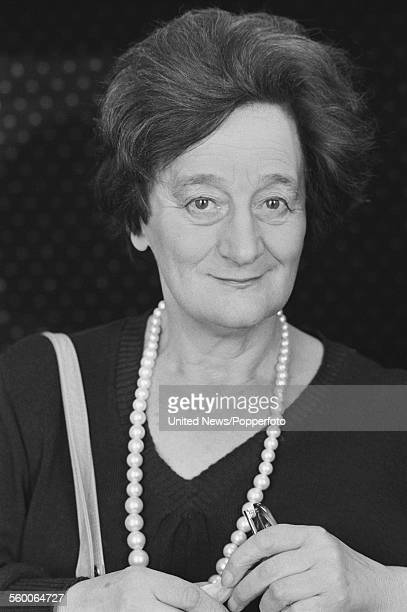 English actress Liz Smith who plays the character of Gran Turner in the television series 'One by One' posed in London on 20th January 1984