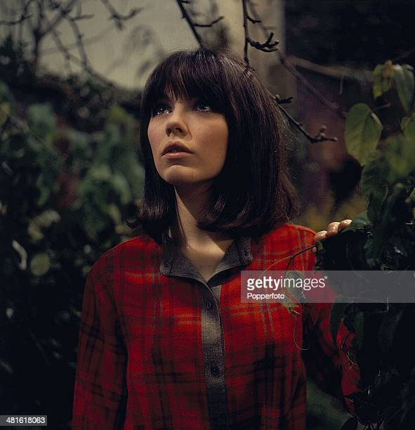 1968 English actress Lucy Fleming posed on the set of the television drama series 'Haunted The Girl on the Swing' in 1968