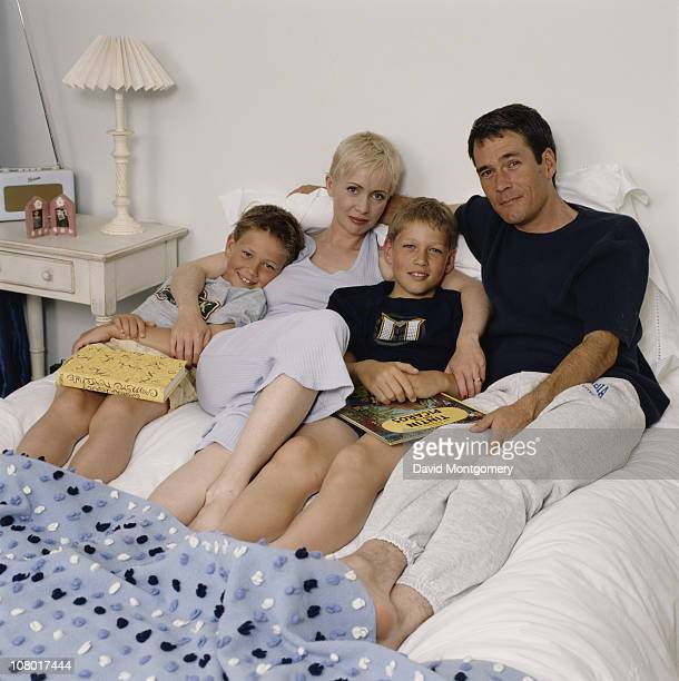 English actress Lysette Anthony with her husband actor and director David Price circa 2000 The boys are possibly Price's sons from an earlier marriage