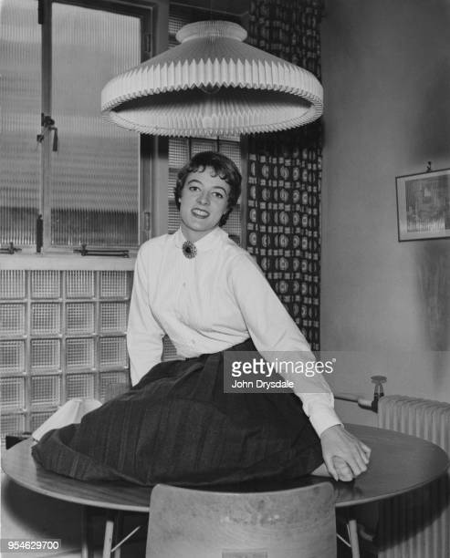 English actress Maggie Smith at her home in Belsize Park London September 1957